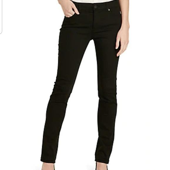 Ralph Lauren Denim - Ralph Lauren Milan Black Skinny Mid Rise Jeans